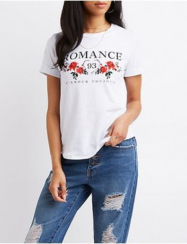 Printed Graphic Tee by Charlotte Russe