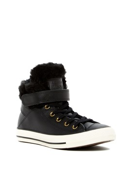 Chuck Taylor All Star Faux Fur Lined Leather High Top Sneaker (Women) by Converse