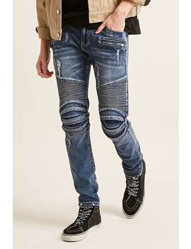 Cain & Abel Denim Moto Inspired Jeans by F21 Contemporary