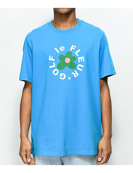 Converse X Golf Wang Le Fleur Hawaiian Blue T Shirt by Converse