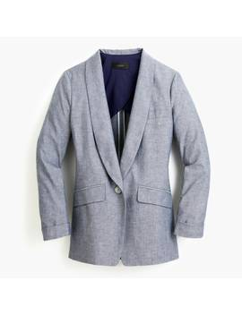 Unstructured Shawl Collar Blazer In Cotton Linen by J.Crew