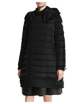 Christabel Quilted Puffer Coat, Black by Moncler
