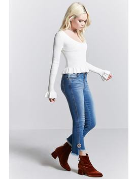 Contemporary Step Hem Jeans by F21 Contemporary