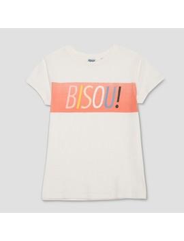 Junk Food Women's Plus Bisou! Short Sleeve T Shirt   White by Junk Food