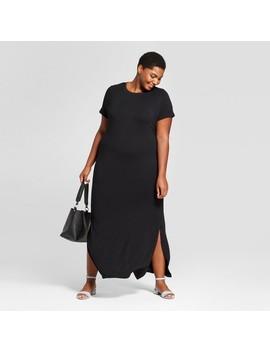 Women's Plus Size T Shirt Maxi Dress   Ava & Viv™ Black by Ava & Viv™