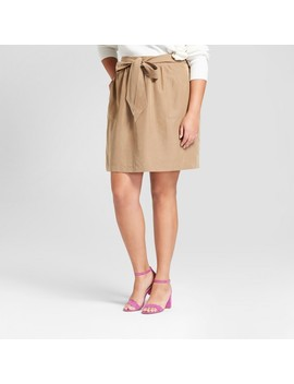 Women's Plus Size Tie Waist Skirt   A New Day™ Brown by A New Day™