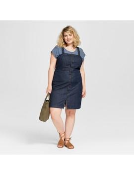 Women's Plus Size Button Front Apron Denim Dress    Universal Thread™ by Universal Thread™