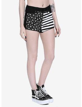 Blackheart Stars & Stripes Shorts by Hot Topic