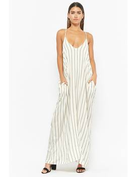 Pinstriped Maxi Dress by F21 Contemporary
