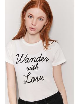 Wander With Love Graphic Tee by F21 Contemporary