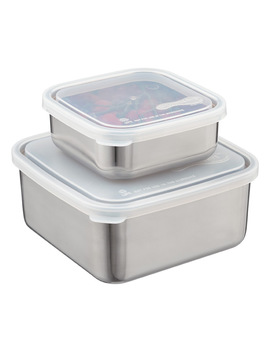 Stainless Steel Square To Go Containers by Container Store