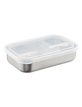 33 Oz. Stainless Steel Divided To Go Container by Container Store
