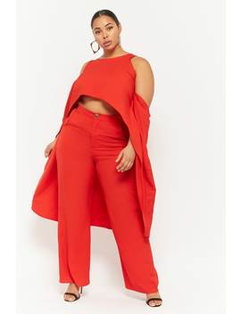 Plus Size High Low Top & Wide Leg Pant Set by Forever 21