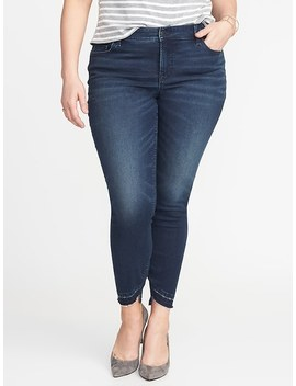Smooth &Amp; Slim High Rise Plus Size Rockstar Ankle Jeans by Old Navy