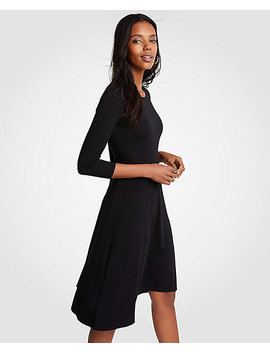 Petite Circle Cut Flare Dress by Ann Taylor