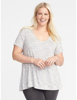 Jersey Knit Plus Size V Neck Top by Old Navy