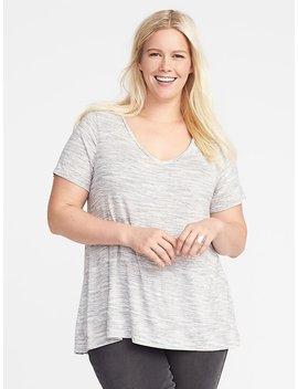 Jersey Knit Plus Size V Neck Top by Old Navy