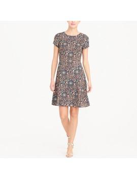Short Sleeve Flutter Dress by J.Crew