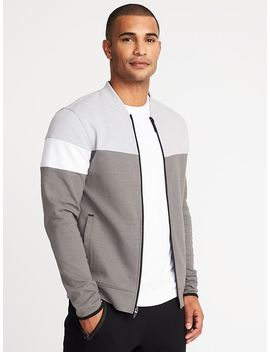Go Dry Color Block Full Zip Bomber Jacket For Men by Old Navy