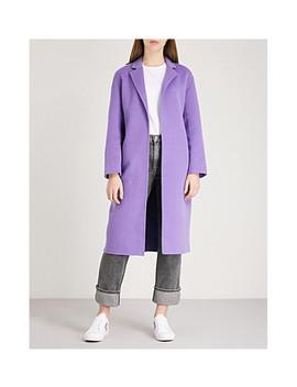 Longline Wool Coat by Sandro