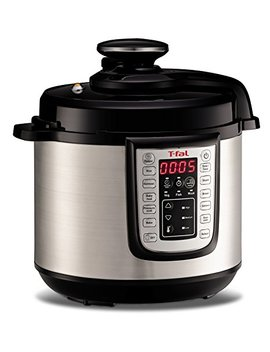 T Fal Cy505 E 12 In 1 Programmable Electric Multi Functional Pressure Cooker With 25 Built In Smart Programs / Ceramic Nonstick Cooking Pot And Stainless Steel Housing 1100 Watts, 6 Quart, Silver by T Fal