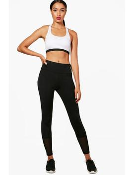 Im Fit Sports Bra & Mesh Legging Workout Set by Boohoo
