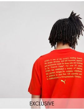 Puma T Shirt With Back Print In Red Exclusive To Asos by Puma