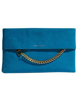Karen Millen Leather Chain Zip Clutch Bag by Karen Millen