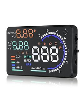 Arestech 5.5 Inches A8 Multi Color Hud Head Up Display With Obd2, Euobd Display Km/H Mph Speeding Warning, Fuel Consumption, Temperature by Arestech
