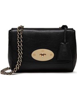 Lily Glossy Leather Crossbody Clutch by Mulberry
