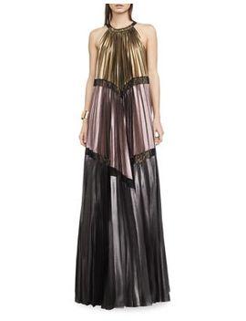Alyson Metallic Colorblocked Maxi Dress by Bcbgmaxazria
