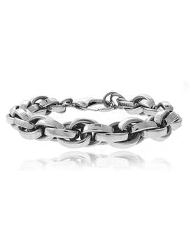 Mondevio Stainless Steel Cable Chain Bracelet by Mondevio