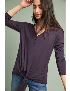 Tied Henley Pullover by T.La