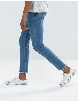 Only & Sons Skinny Jeans With Raw Edge by Only & Sons