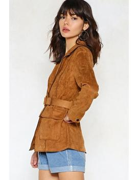 Round 'em Up Hun Vegan Suede Jacket by Nasty Gal