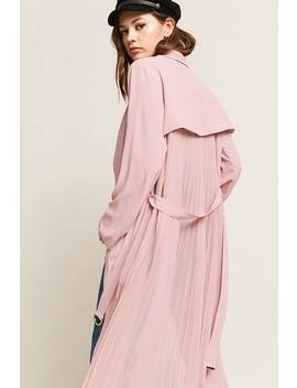 Woven Accordion Pleat Duster Jacket by F21 Contemporary