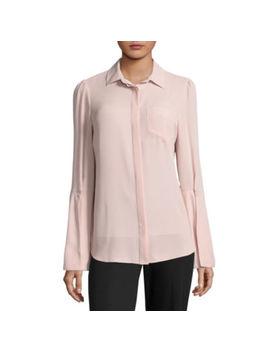 Worthington Long Sleeve Button Front Shirt Talls by Worthington