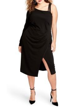 Asymmetrical Faux Wrap Dress by Rachel Rachel Roy
