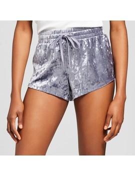 Women's Crushed Velvet Pajama Shorts   Xhilaration™ Gray by Xhilaration™