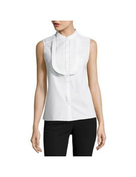 Worthington Sleeveless Button Front Shirt by Worthington