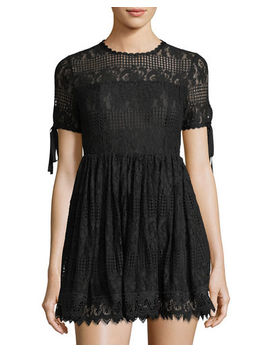 Illusion Yoke Lace Fit & Flare Dress by Romeo & Juliet Couture