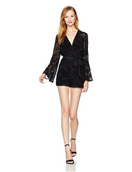 Bcb Generation Women's Bell Sleeve Lace Romper by Bcb Generation