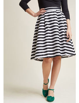 Dusk And Stunner Midi Skirt In Black Dusk And Stunner Midi Skirt In Black by Modcloth