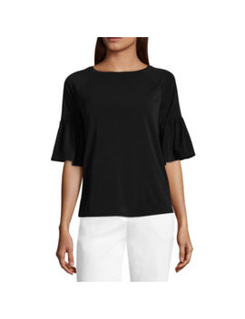 Worthington Bell Sleeve Knit Top by Worthington