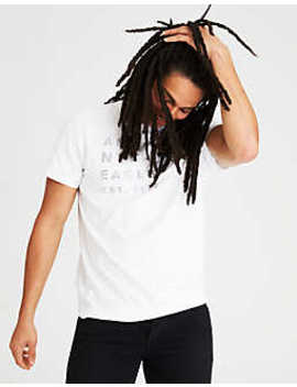 Ae Reflective Graphic Tee by American Eagle Outfitters