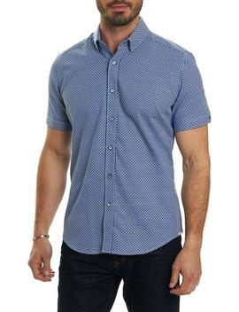 Nikko Tailored Fit Print Sport Shirt by Robert Graham