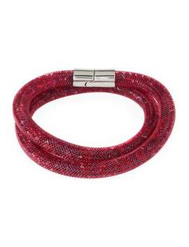Stardust Convertible Crystal Mesh Bracelet/Choker, Red, Medium by Swarovski