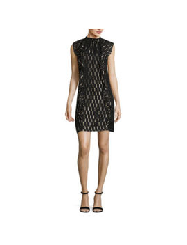 Worthington Sleeveless Pattern Shift Dress by Worthington