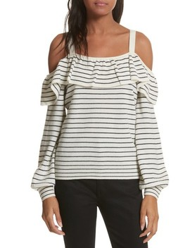 Delbin B Stripe Cold Shoulder Sweater by Joie