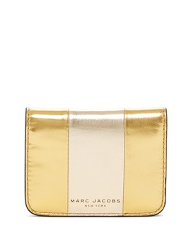 Bicolor Metallic Folded  Leather Cc Wallet by Marc Jacobs